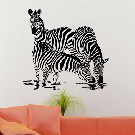 Wandtattoo Zebras