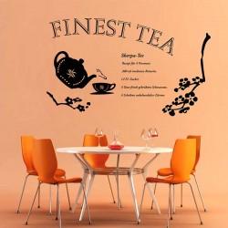 Wandtattoo Finest Tea