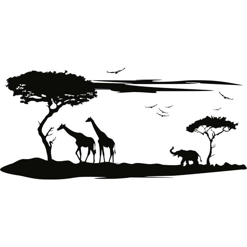 Wandtattoo Safari, In Vielen Farben Und Größen