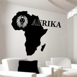Wandtattoo Afrika Landkarte