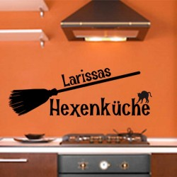 Wandtattoo Hexenküche mit Wunschnamen