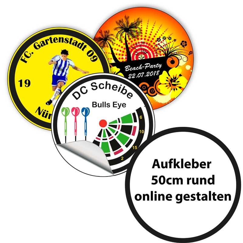 Aufkleber Sticker 50 Cm ø Drucken Und Gestalten Einfach Online