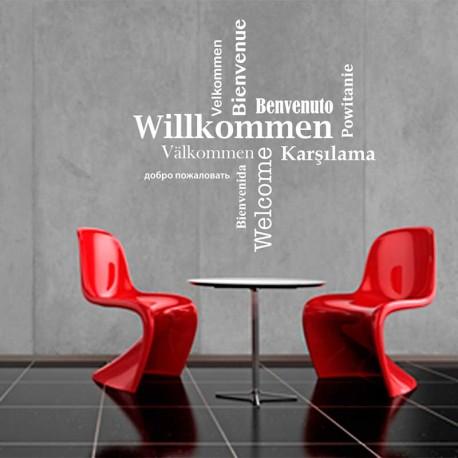 Wandtattoo Willkommen Welcome