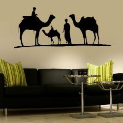 Wandtattoo Reiter mit Kamelen