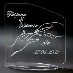 Acrylglas Hochzeit