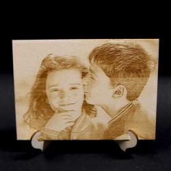 Fotogravur auf Holz, Lasergravur, personalisiert