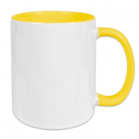 Fototasse innen/Henkel gelb zum Selbstgestalten